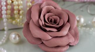 Роза из кожи: мастер-класс