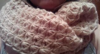 Вяжем круговой шарф