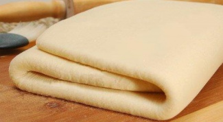 How to cook puff unleavened dough