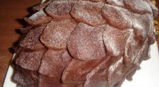 """Новогодний шоколадный торт """"Сосновая  шишка"""""""