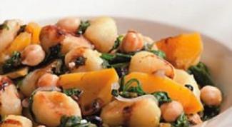 Рецепт соте из нута со шпинатом