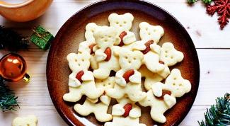 Рождественская выпечка: печенье в виде мишек