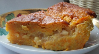 Диетический пирог с тыквой