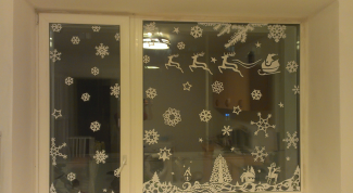 Сказка на окнах к Новому году