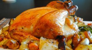 Как приготовить курицу в духовке в фольге