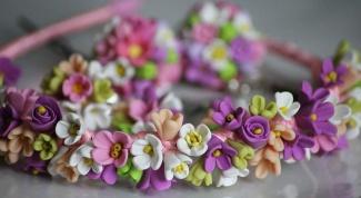 Как сделать ободок с цветами своими руками