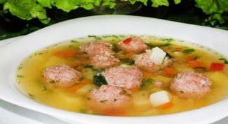 Суп с фрикадельками: рецепты