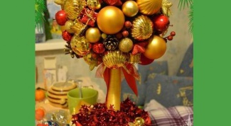 Новогоднее деревце-топиарий своими руками