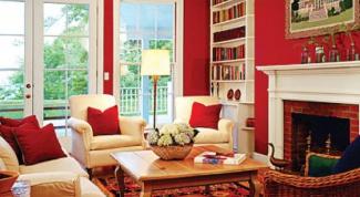 Красный в интерьере – преимущества и недостатки