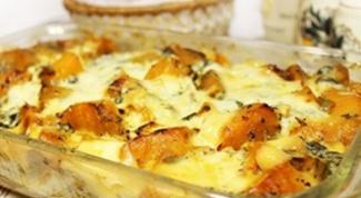 Куриная запеканка с тыквой и сыром