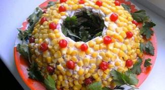 """Как приготовить салат """"Янтарный браслет"""""""