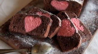 Как испечь кекс «Спрятанное сердце»