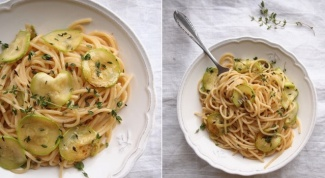 Спагетти с цукини и пармезаном