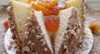 Торт «Персиковый вулкан»