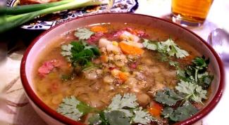 Гороховый суп с копченой горбушей