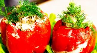 Как сделать салат с креветками в перцах