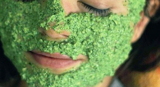 Facial masks from age spots with parsley
