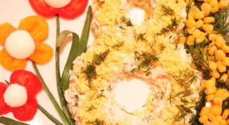 """Как приготовить салат """"8 марта"""""""