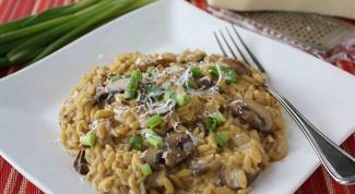 Постные блюда на каждый день: перлотто с грибами