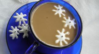 Как приготовить снежинки к кофе