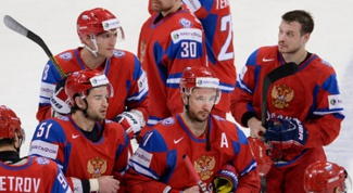 The national team of Russia on hockey is leaving the Olympics in Sochi