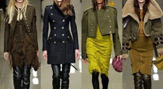 С чем носить одежду в военном стиле