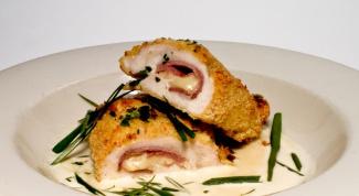 Кордон блю - деликатес с пикантной начинкой