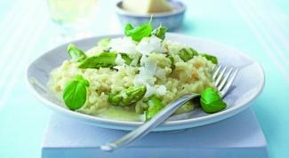 Ризотто из зеленых овощей