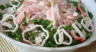 """Как приготовить салат """"Александр"""" с крабовыми палочками"""