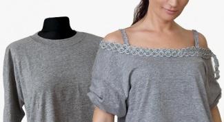 Как переделать мужскую футболку в женскую