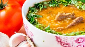 Как приготовить суп харчо из говядины