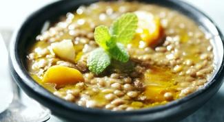 Французский суп с чечевицей