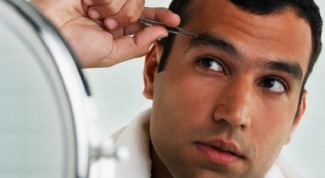 How to make correction of eyebrows man