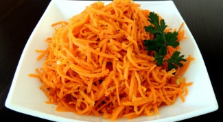 The recipe is a delicious salad with Korean carrot