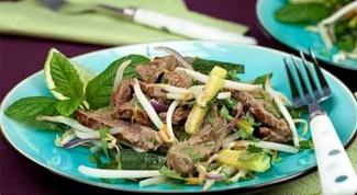 Салат из вареного говяжьего сердца
