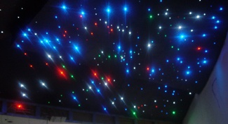 How to make glowing stars on the ceiling