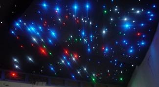 Как сделать светящиеся звезды на потолок