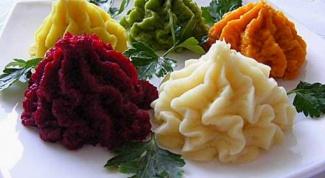 Как сделать разноцветное картофельное пюре