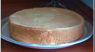 Холодный способ приготовления бисквита