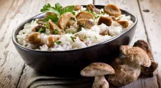 Как приготовить ризотто с белыми грибами