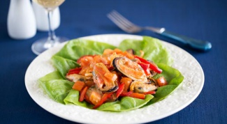 Как приготовить мидии с овощами в сливочном соусе