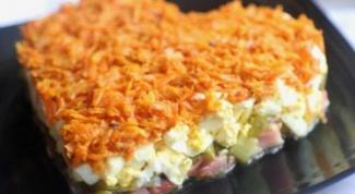 """Как приготовить салат """"Оранжевое сердце"""""""