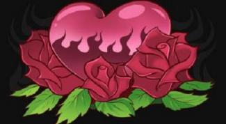 Как нарисовать сердце с розами поэтапно