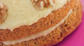 Медово-ореховый торт со сливочным кремом