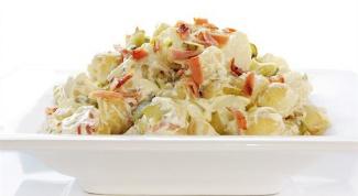 Золотистый картофельный салат