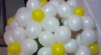 Как сделать ромашку из шаров