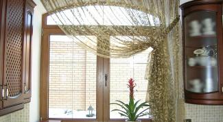 Современные шторы для кухни
