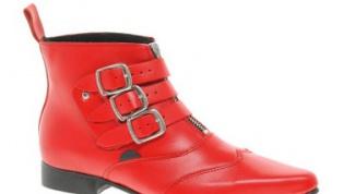 С чем носить красные ботинки