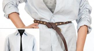 How to sew a men's shirt women's