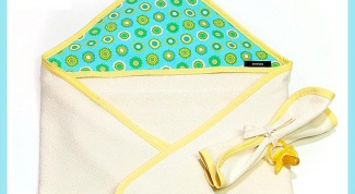 How to sew a towel with a corner hood